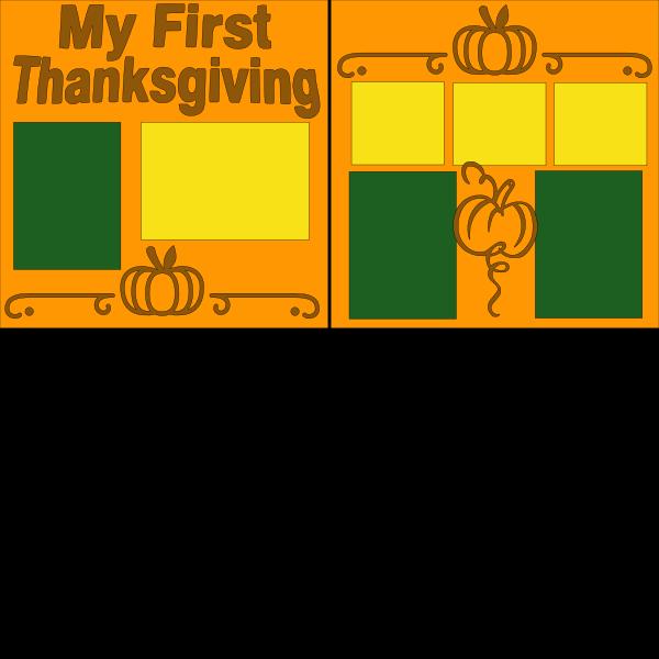 MY FIRST THANKSGIVING !   -basic page kit