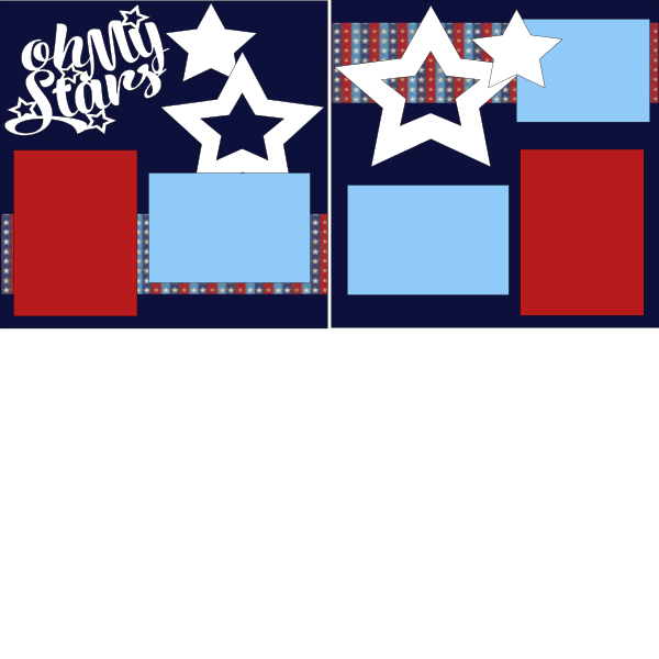 OH MY STARS JULY 4TH   -basic page kit