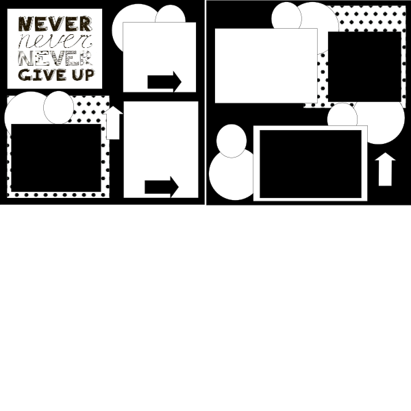 NEVER GIVE UP = page kit