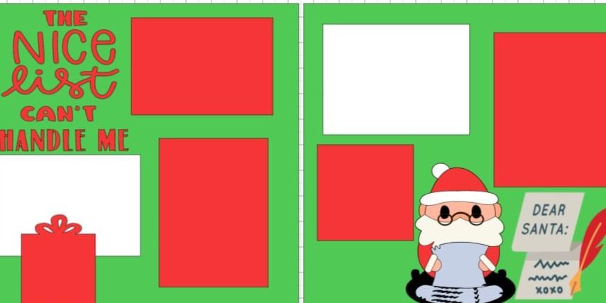 CHRISTMAS- THE NICE LIST CAN'T HANDLE ME -  page kit