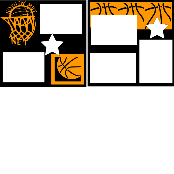 NOTHIN BUT NET BASKETBALL --  page kit