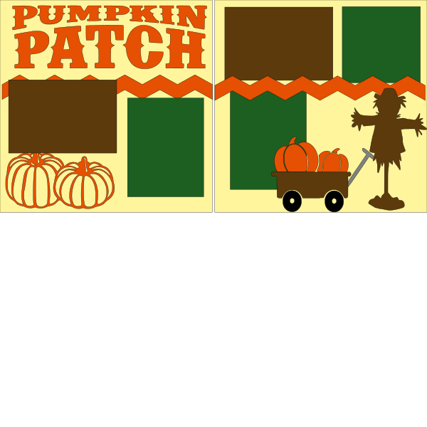 PUMPKIN PATCH (SCARECROW)    --   page kit