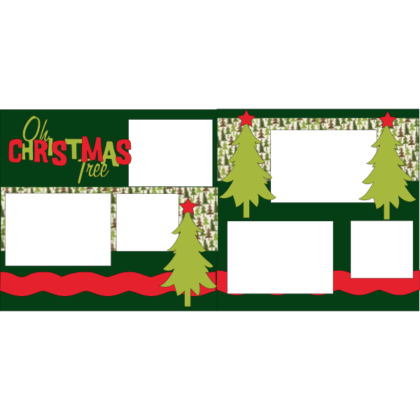 OH CHRISTMAS TREE-DECORATING OR GETTING THE TREE  -basic page kit