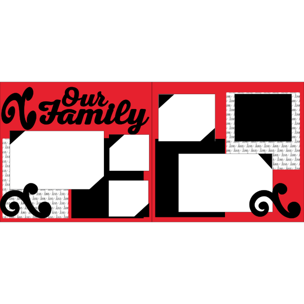 OUR FAMILY (LOVE PAPER ) -basic page kit
