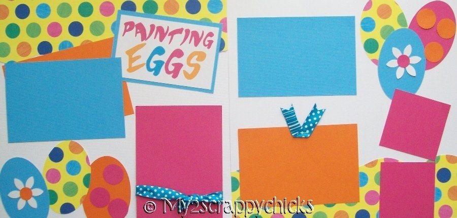Hunting or Painting Eggs Easter page kit