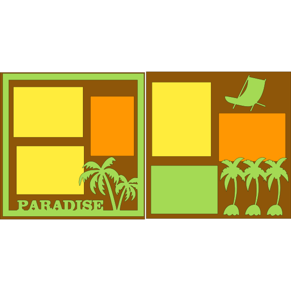PARADISE FOUND! BEACH  -basic page kit