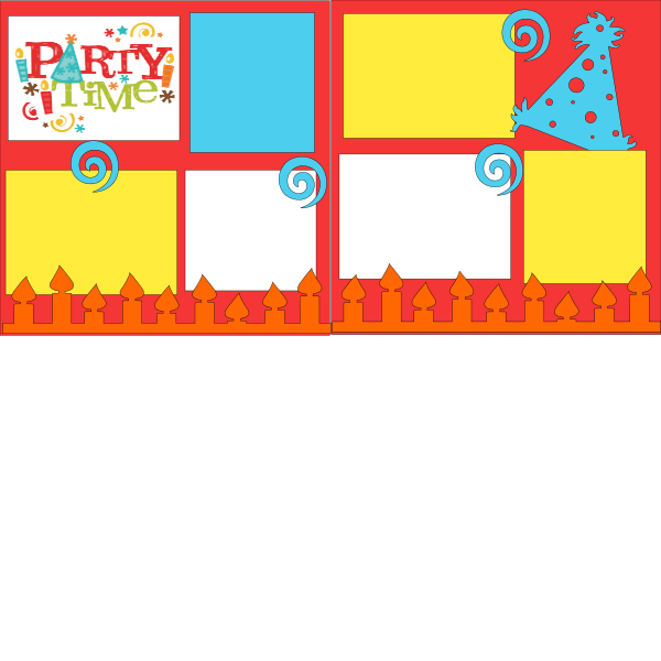 PARTY TIME BIRTHDAY  ... Page Kit