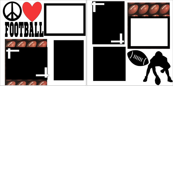 PEACE LOVE FOOTBALL  PAGE KIT