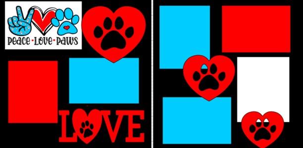 Peace love Paw Prints-  page kit