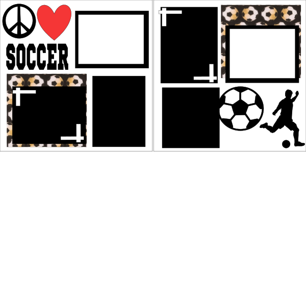Peace, Love Soccer  Page Kit