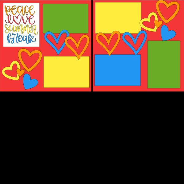 PEACE LOVE SUMMER BREAK   -basic page kit