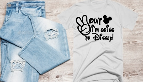 PEACE OUT I'M GOING TO DISNEY T-SHIRT