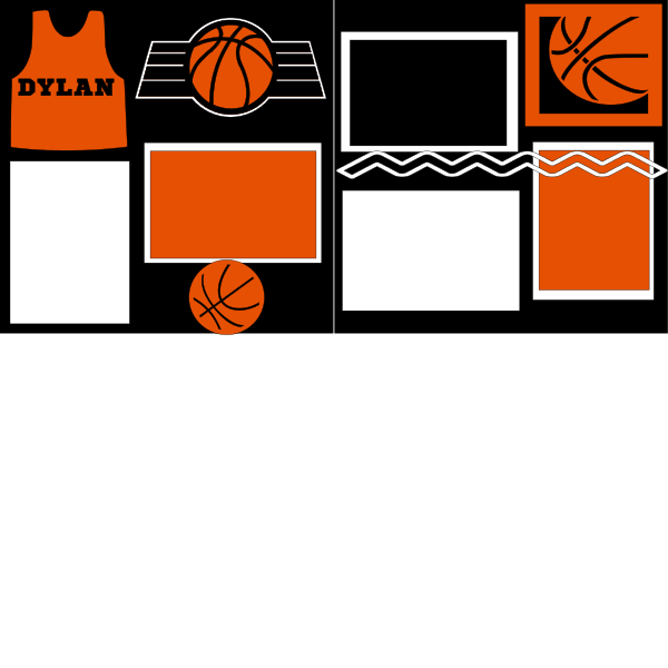 PERSONALIZED  BASKETBALL   -basic page kit