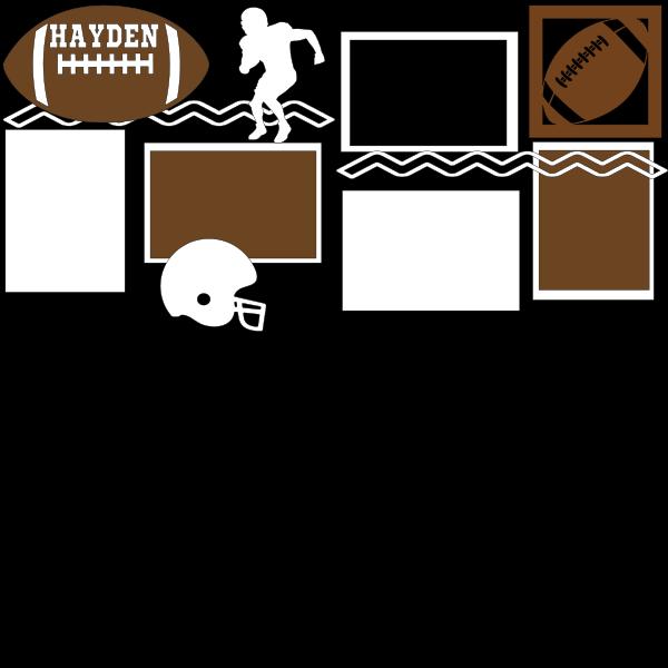 PERSONALIZED FOOTBALL  -basic page kit