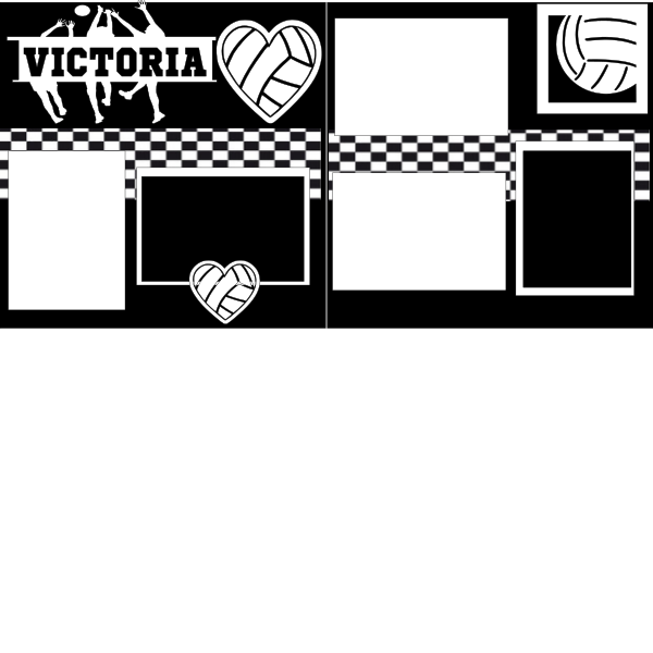 PERSONALIZED VOLLEYBALL   -basic page kit