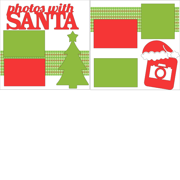 PHOTO'S WITH SANTA   -basic page kit