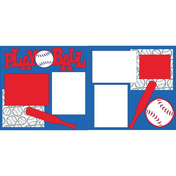 PLAYBALL BASEBALL  -basic page kit