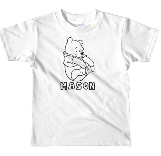 POOH COLORING SHIRT