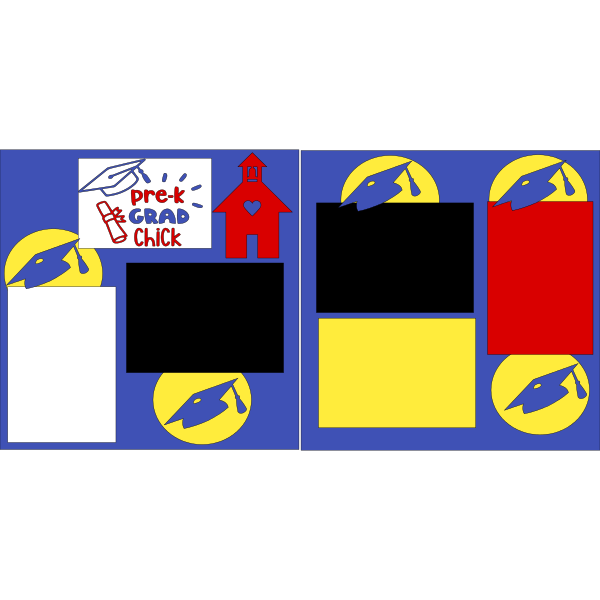 PRE-K GRAD CHICK   - PAGE KIT