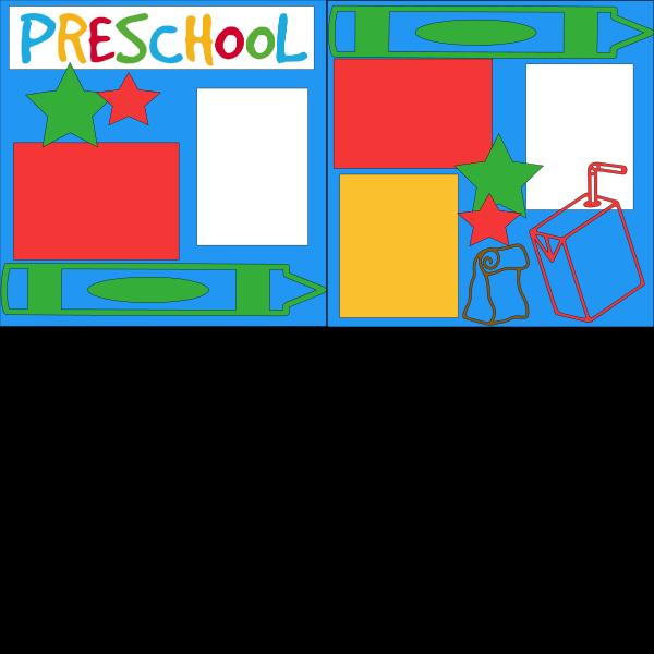 PRESCHOOL (CRAYON)   --   page kit