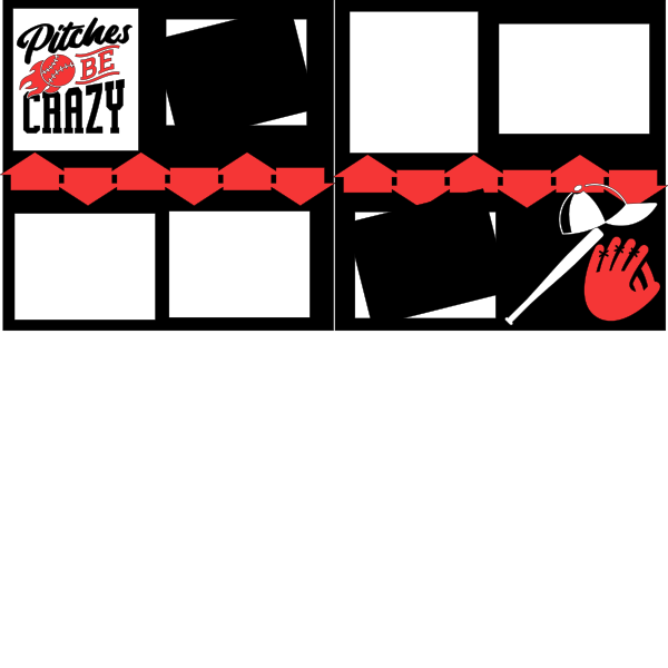 BASEBALL- THE PITCHES BE CRAZY   -basic page kit