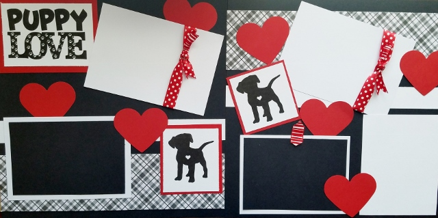 PUPPY LOVE HEARTS  page kit