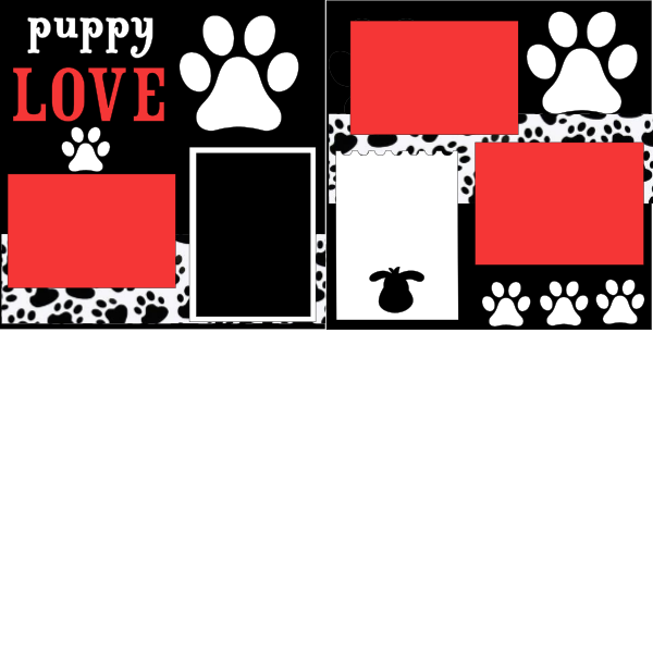 PUPPY LOVE  -basic page kit