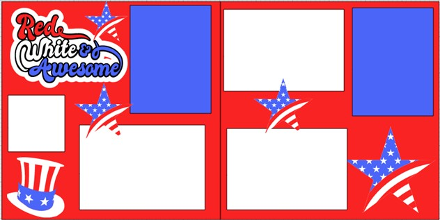 Red white and Awesome!!  -  page kit