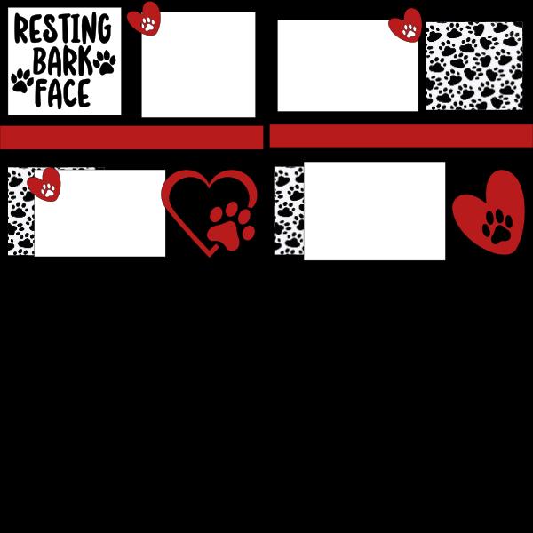 RESTING BARK FACE (DOG)   -basic page kit