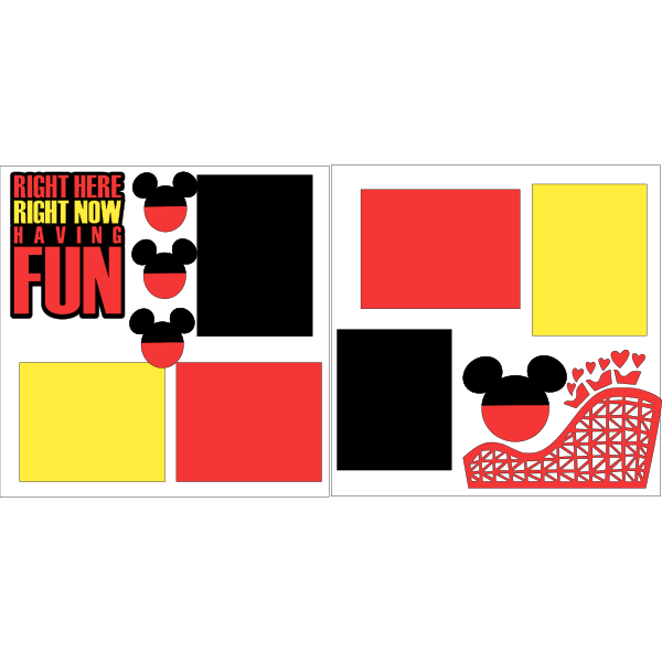 HAVING FUN -DISNEY -basic page kit