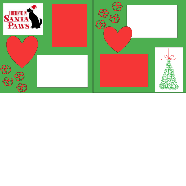 I BELIEVE IN SANTA PAWS   -basic page kit