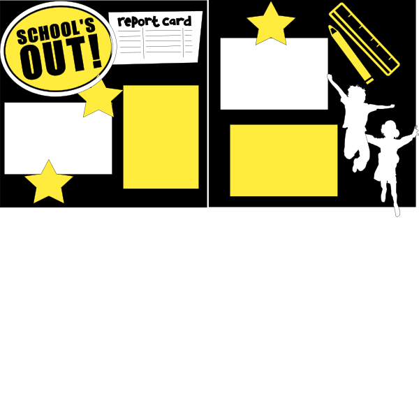 SCHOOLS OUT!   -basic page kit