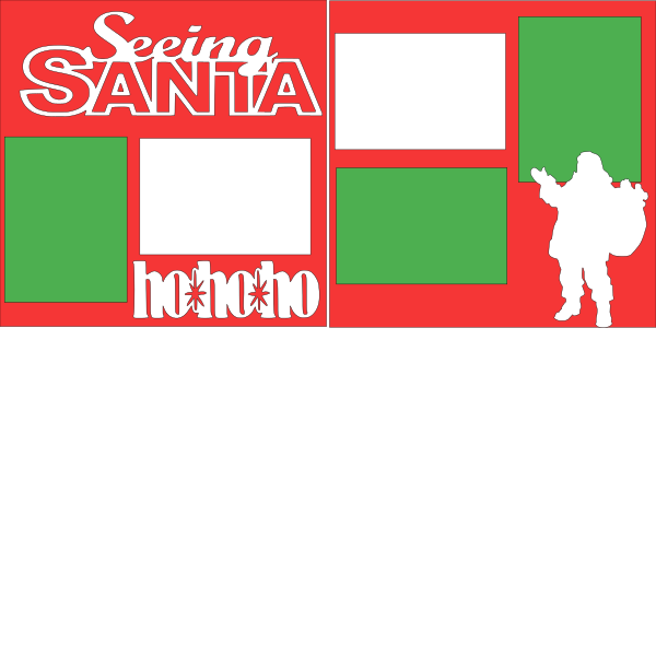 SEEING SANTA  -basic page kit