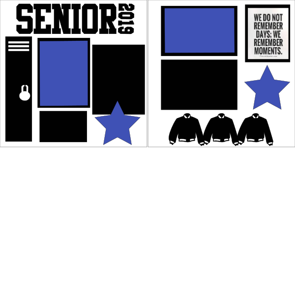 PERSONALIZED SENIOR YEAR  page kit