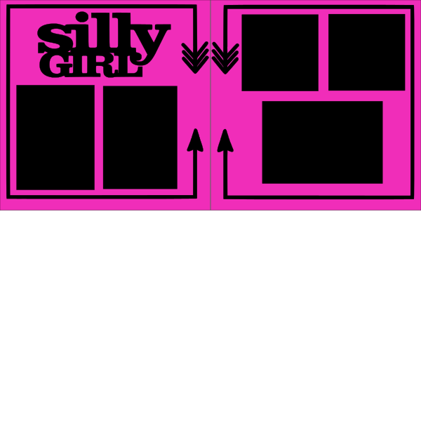 SILLY GIRL   -basic page kit