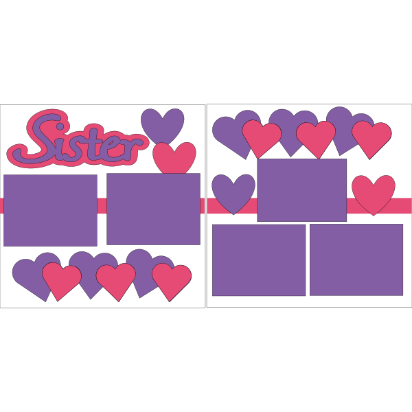 SISTER *HEARTS  -basic page kit