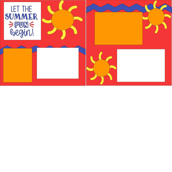 LET THE SUMMER FUN BEGIN!  -basic page kit
