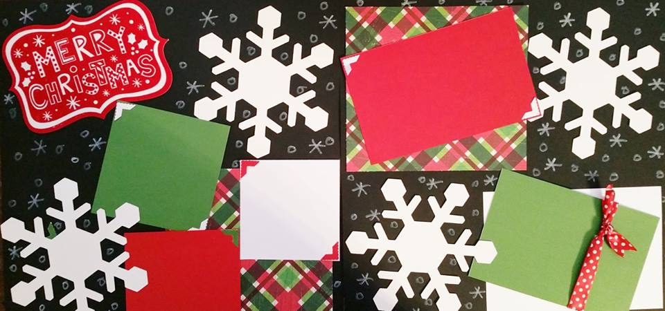 MERRY CHRISTMAS (SNOWFLAKE)   page kit