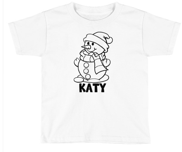 CHRISTMAS SNOWMAN SHIRT COLORING SHIRT