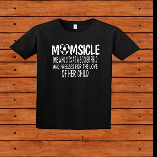 MOMSICLE SOCCER T-SHIRT