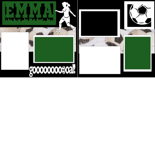 PERSONALIZED SOCCER GIRL  -basic page kit