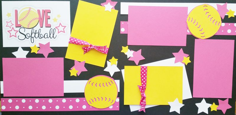 I LOVE SOFTBALL  -basic page kit