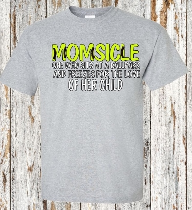 MOMSICLE SOFTBALL T-SHIRT