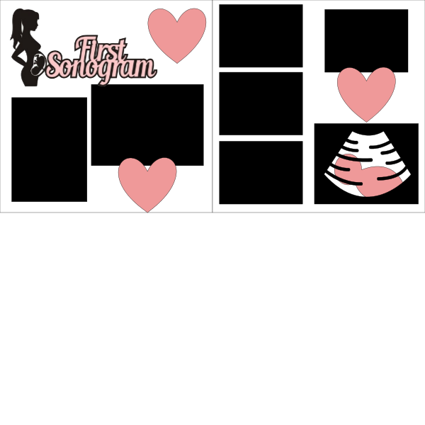 First sonogram girl--  page kit