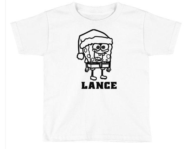 CHRISTMAS SPONGEBOB COLORING SHIRT