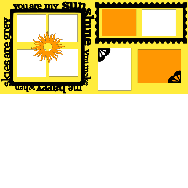 YOUR ARE MY SUNSHINE OVERLAY KIT    -basic page kit