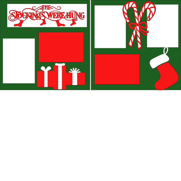 CHRISTMAS- THE STOCKINGS WERE HUNG   --   page kit