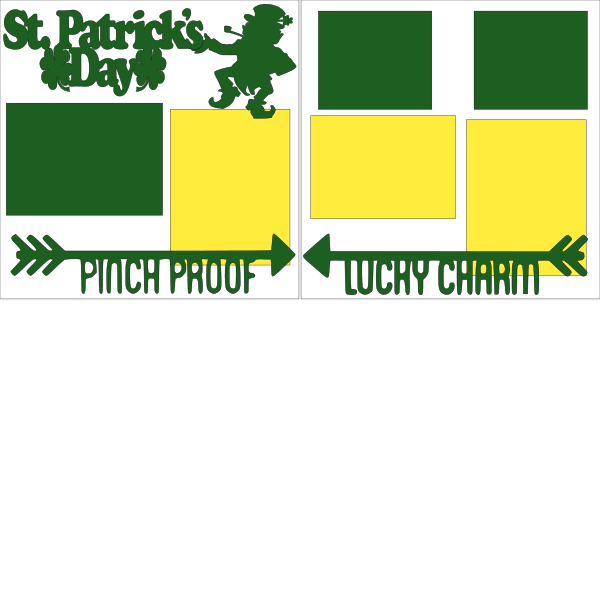 St. Patricks Day --  page kit