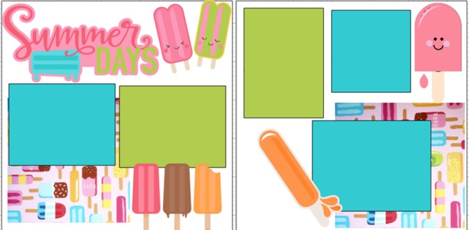 SUMMER DAYS POPSICLES -  page kit