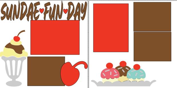 SUNDAE FUN DAY ! -  page kit